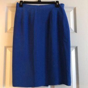 Sueded Silk Skirt in fantastic blue!